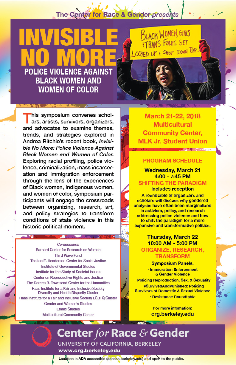 Symposium: Police Violence Against Women of Color @ MLK Jr. Student Union, UC Berkeley | Berkeley | California | United States
