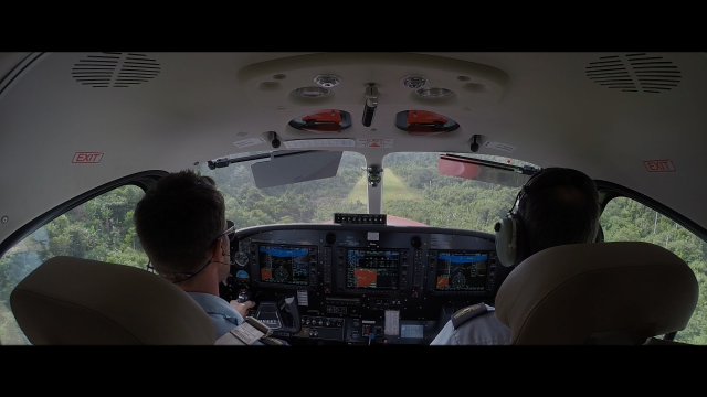 Mission Aviation Quest Kodiak flying Papua New Guinea