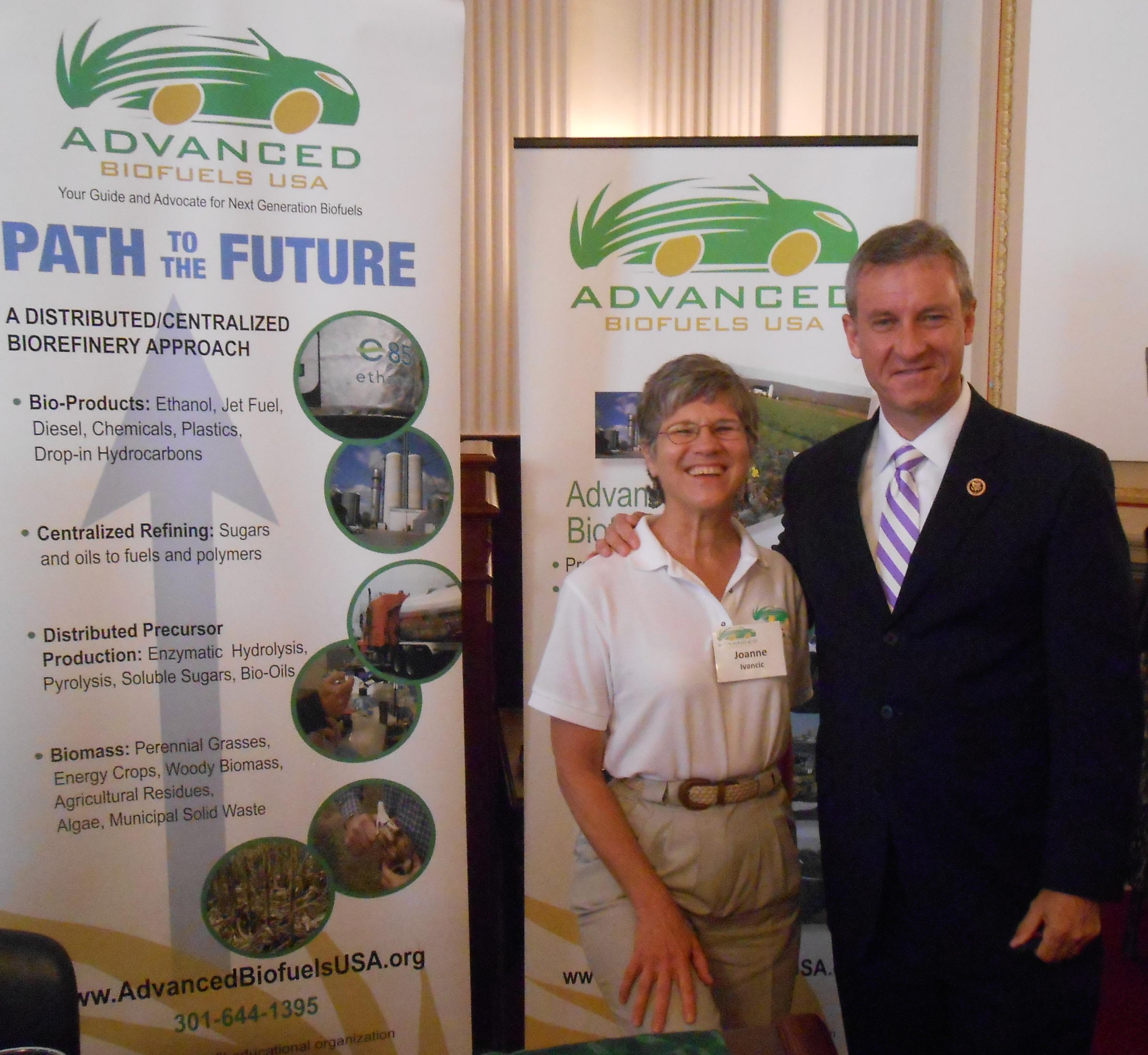 Joanne Ivancic with Congressman Matt Cartwright