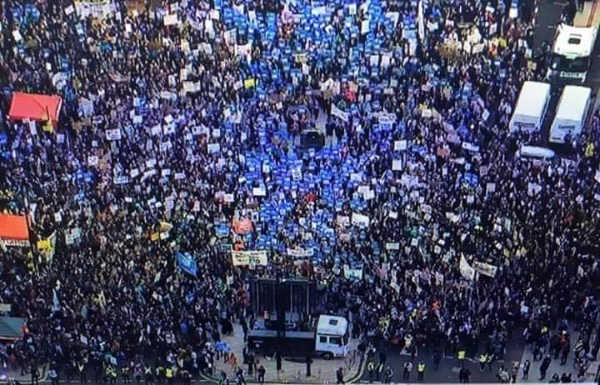 Junior doctors take the streets in London