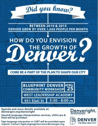 Blue Print Denver Work Shop @ West Leadership Academy at Denver West High School | Denver | Colorado | United States
