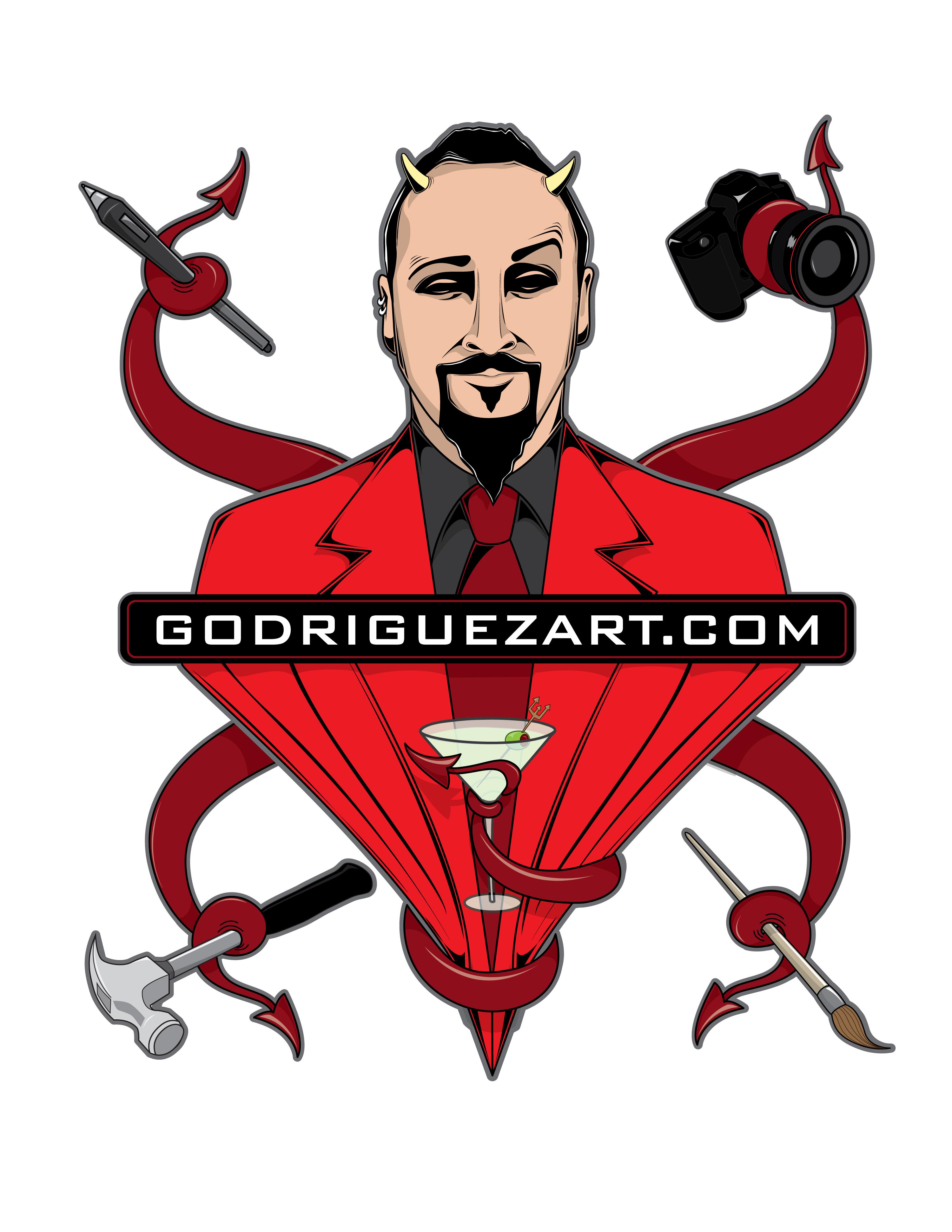 godriguezart.com devil logo
