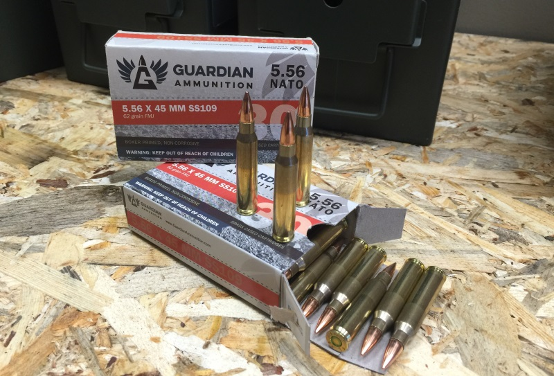 Guardian Ammunition 5.56x45mm M855 Ammo 62 Grain Full Metal Jacket