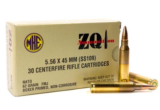 ZQI 5.56mm M855 NATO Ammo 62 Grain FMJ