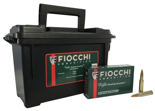 Fiocchi 308 Winchester Ammo 150 Grain 180 Rounds in Ammo Can
