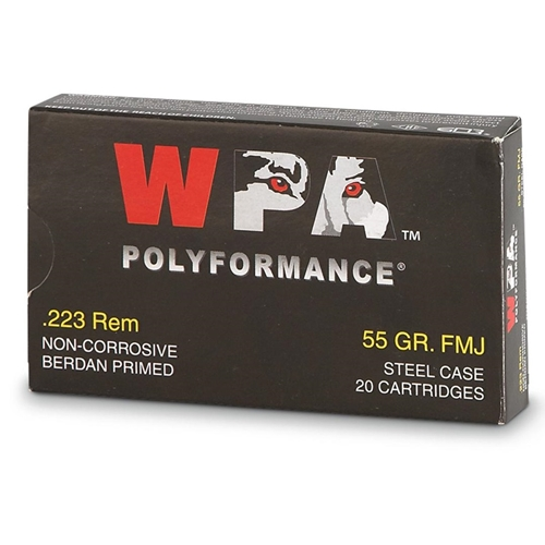 Wolf Polyformance 223 Remington 55 Grain FMJ 1000 Rounds
