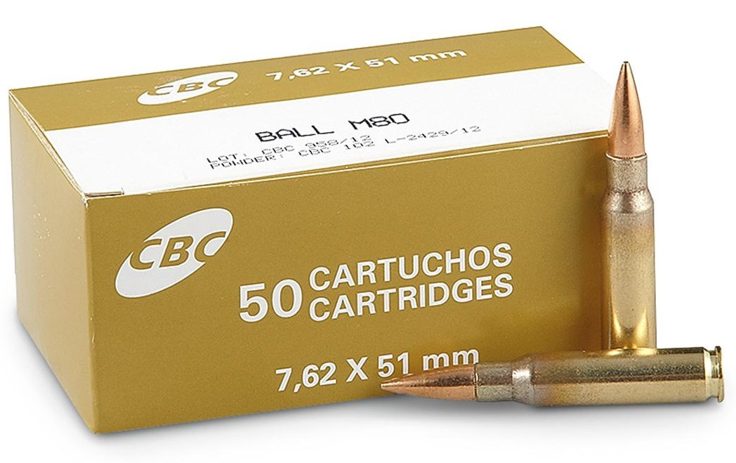 Magtech CBC 7.62x51mm (308 Winchester) NATO 147 Grain Full Metal Jacket