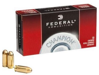 Federal Champion 40 S&W Ammo 180 Grain Full Metal Jacket