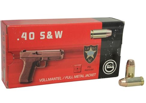 Geco 40 S&W Ammo 180 Grain Full Metal Jacket