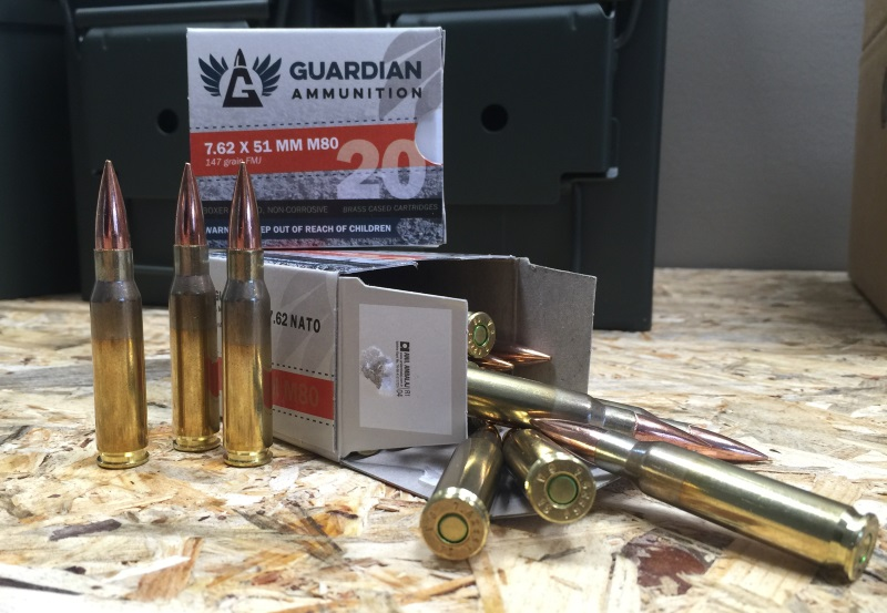 Guardian 7.62x51mm Ammo M80 Ball 147 Grain Full Metal Jacket