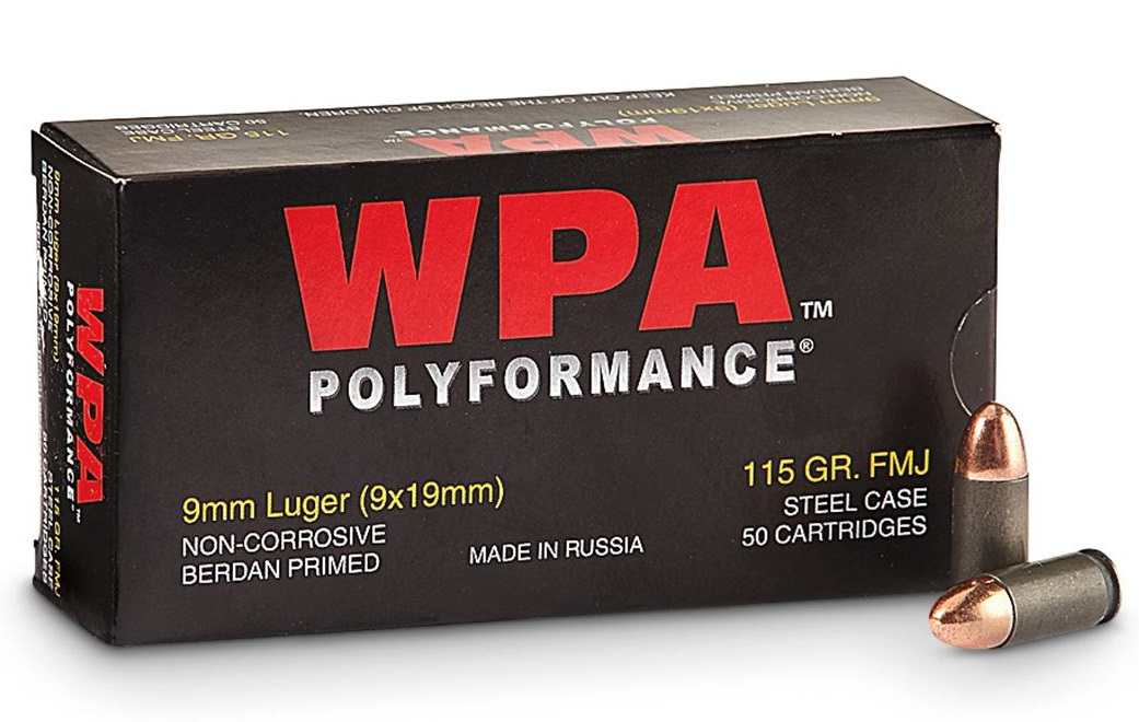 Wolf Polyformance 9mm Luger 115 Grain FMJ 1000 Rounds