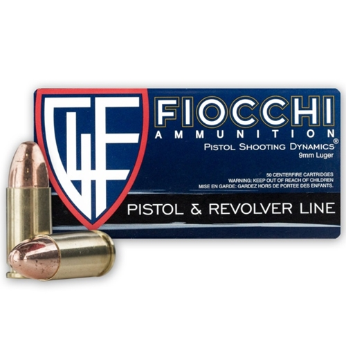 Fiocchi 9mm Luger Ammo 115 Grain Full Metal Jacket