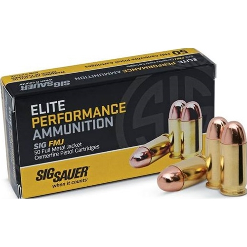 Sig Sauer Elite Performance 45 ACP Ammo 230 Grain Full Metal Jacket