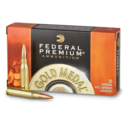 Federal GM308M Gold Medal 308 Winchester Ammo 168 Grain Sierra MatchKing Hollow Point