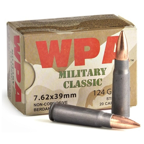 Wolf Military Classic 7.62x39mm 124 Grain FMJ 1000 Rounds