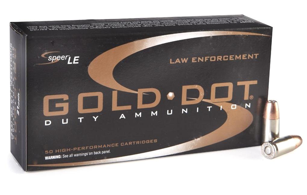 Speer Gold Dot LE Duty 9mm Luger 147 Grain JHP