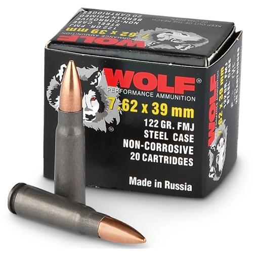 Wolf Polyformance 7.62x39mm Ammo 123 Grain Full Metal Jacket