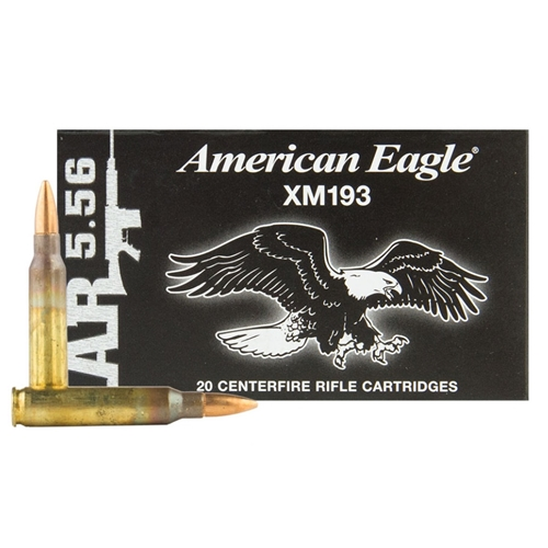 Federal American Eagle 5.56mm NATO 55 Grain FMJ 1000 Rounds