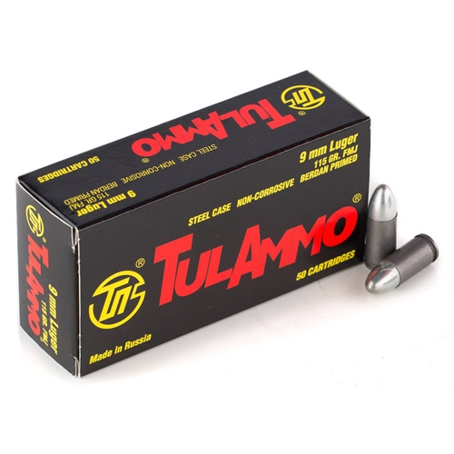 TulAmmo 9mm Luger 115 Grain FMJ 1000 rounds