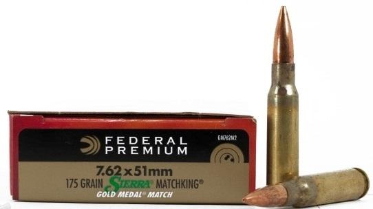 Federal GM762M2 Gold Medal 7.62x51mm Ammo 175 Grain Sierra MatchKing Hollow Point