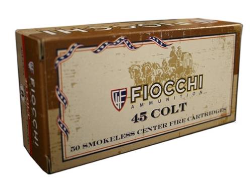 Fiocchi Cowboy Action 45 Long Colt Ammo 250 Grain Lead Round Nose FP Point