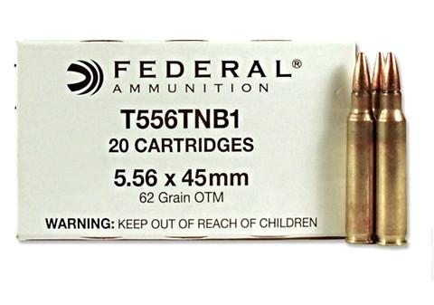 Federal Lake City 5.56x45mm MK318 Ammo 62 Grain SOST