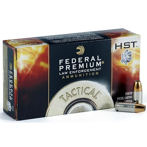 Federal HST LE 9mm Luger Ammo 124 Grain Jacketed Hollow Point