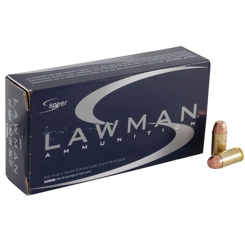 Speer Lawman 40 S&W Ammo 165 Grain Total Metal Jacket