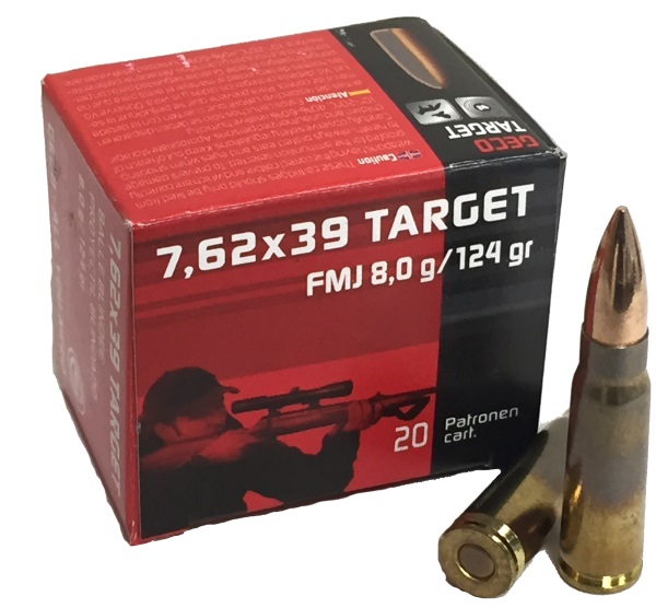 Wolf Military Classic 7.62x39mm Ammo 124 Grain Jacketed Hollow Point