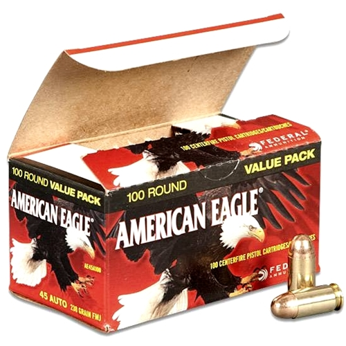 Federal American Eagle 45 ACP Auto Ammo 230 Grain Full Metal Jacket