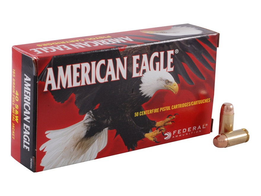 Federal American Eagle 40 S&W Ammo 180 Grain Full Metal Jacket