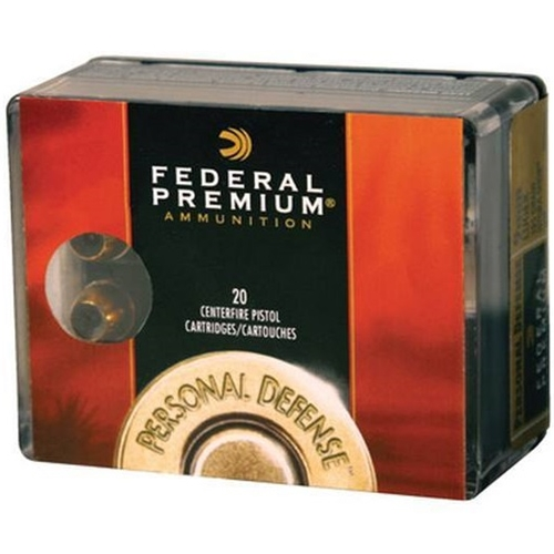 Federal Personal Defense 9mm Luger Ammo 124 Grain Hydra-Shok Jacketed Hollow Point