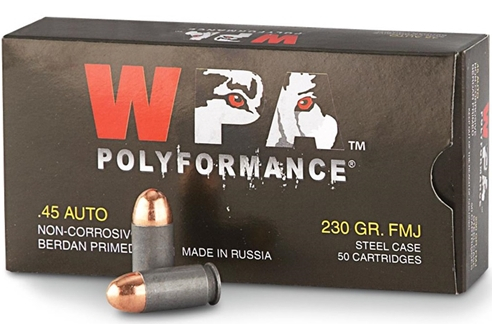 Wolf Polyformance 45 ACP AUTO Ammo 230 Grain Full Metal Jacket