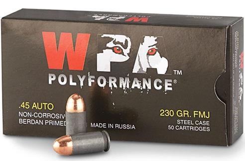 Wolf Polyformance 45 ACP AUTO Ammo 230 Grain Full Metal Jacket