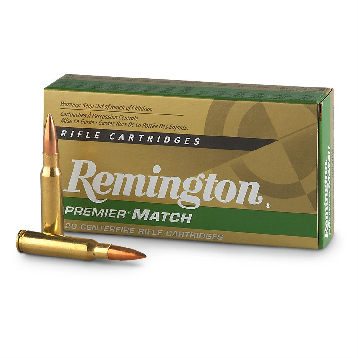 Remington Premier Match 308 Winchester Ammo 168 Grain Sierra MatchKing Boat Tail Hollow Point