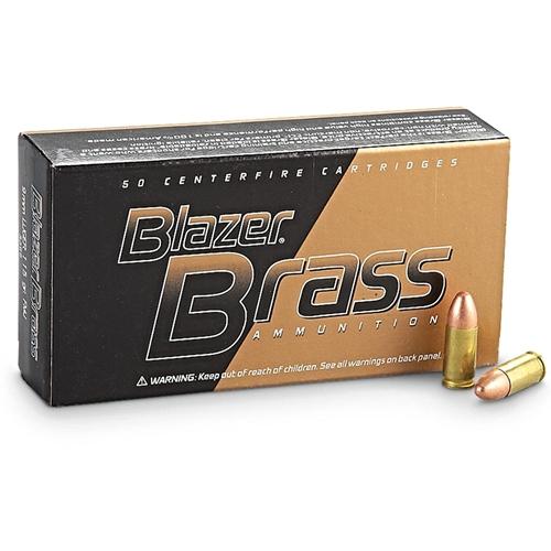 CCI Blazer Brass 9mm Luger 115 Grain FMJ