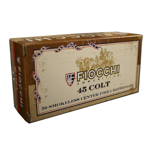 Fiocchi Cowboy Action 45 Long Colt Ammo 250 Grain Lead Round Nose FP