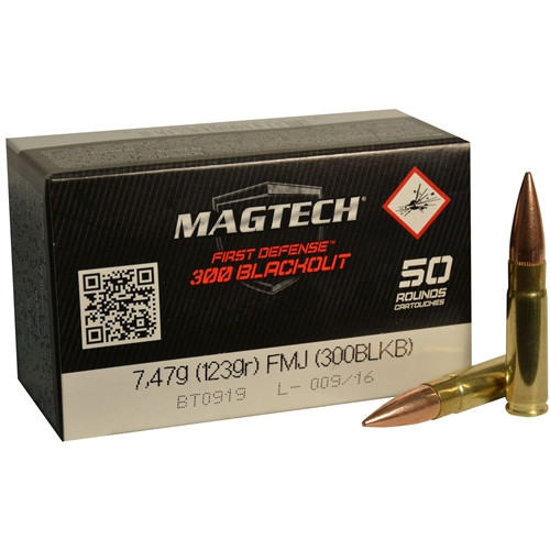 MagTech First Defense 300 AAC Blackout 123 Grain Supersonic Full Metal Jacket