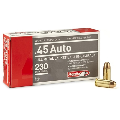 Aguila 45 ACP AUTO 230 Grain Full Metal Jacket 1000 rounds