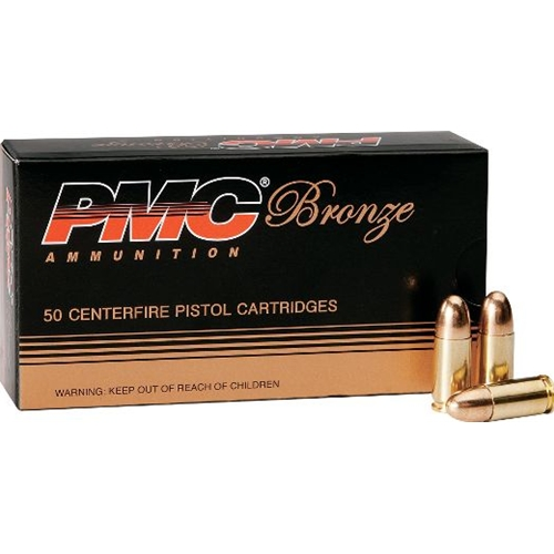 PMC Bronze 380 ACP AUTO Ammo 90 Grain Full Metal Jacket