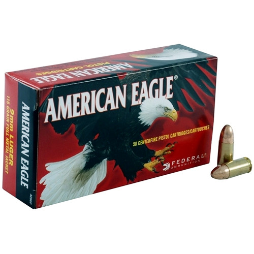 Federal American Eagle 9mm Luger 115 Grain FMJ