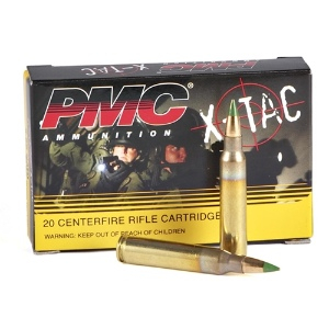 PMC X-TAC 5.56mm NATO 62 Grain Green Tip FMJ