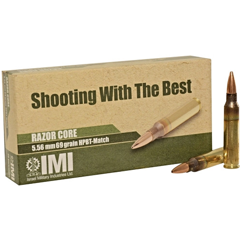 IMI Ammo 5.56x45mm NATO 69 Grain OTM Sierra Matchking Hollow Point
