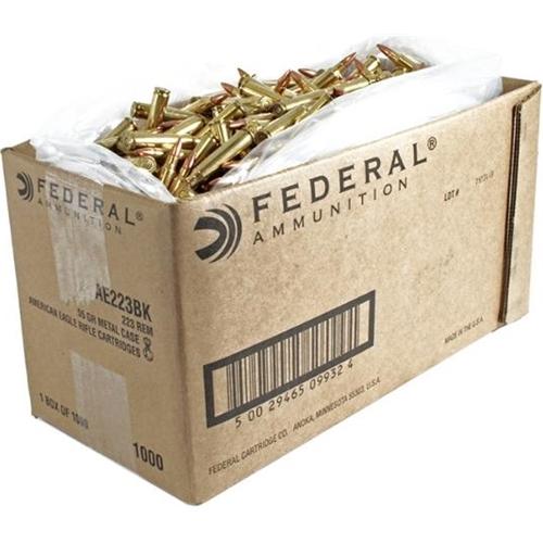 Federal American Eagle 5.56mm NATO XM193 Ammo 55 Grain Full Metal Jacket