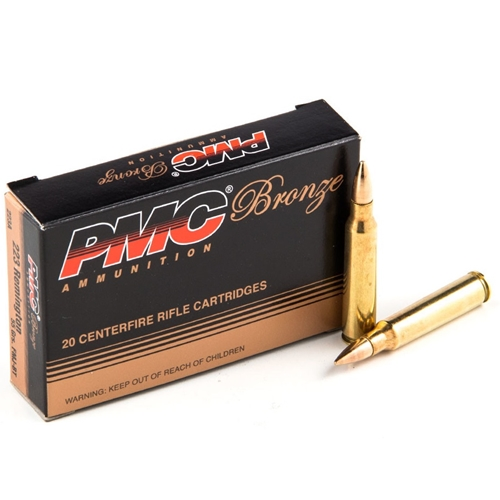 PMC Bronze 223 Remington 55 Grain FMJ 1000 Rounds