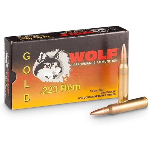 Wolf Gold 223 Remington Ammo 55 Grain Full Metal Jacket
