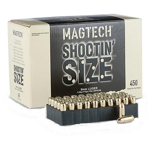 Magtech Shootin' Size 9mm Luger Ammo 115 Grain FMJ