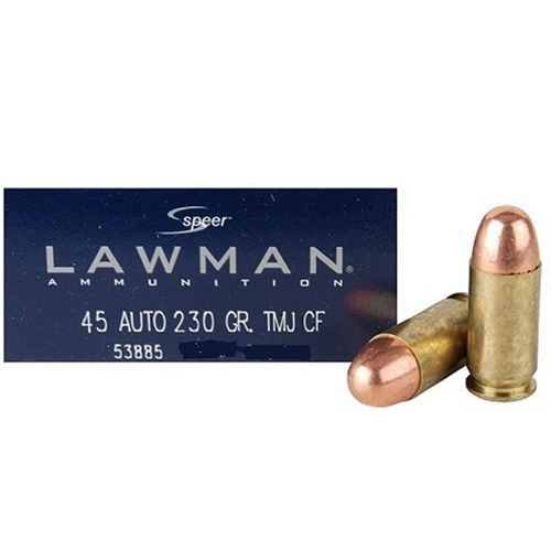 Speer Lawman Cleanfire 45 ACP Auto Ammo 230 Grain Total Metal Jacket