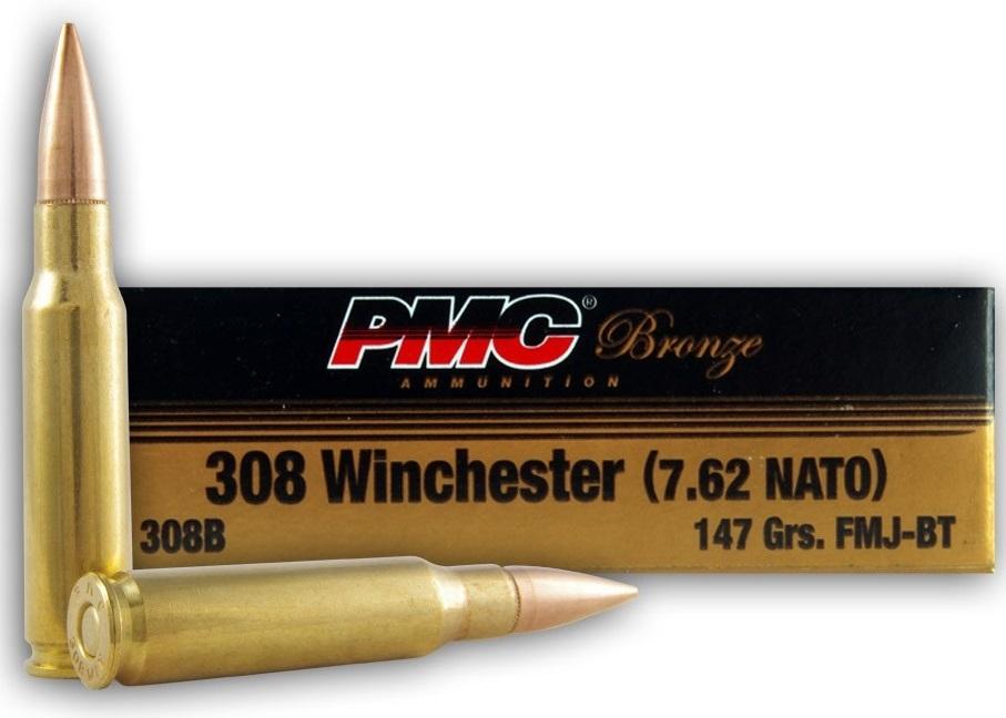 PMC Bronze 308 Winchester Ammo 147 Grain Full Metal Jacket