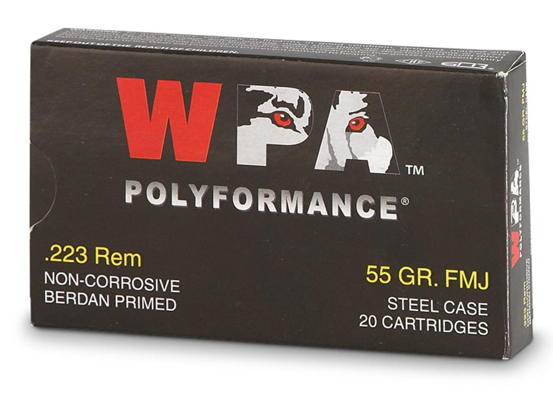 Wolf Polyformance 223 Remington 55 Grain FMJ